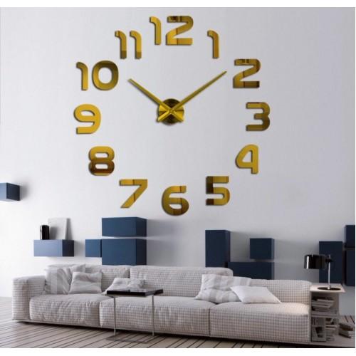 Большие часы на стену Арабские цифры Gold / Великий годинник на стіну Арабські цифри Gold