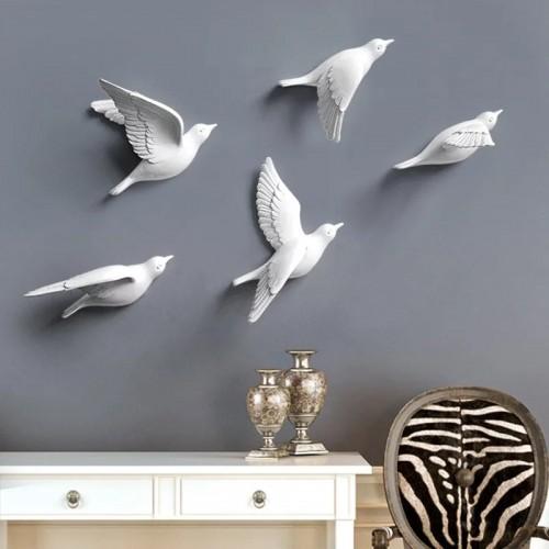 Настенный декор гипсовые птицы / Настінний декор гіпсові птахи