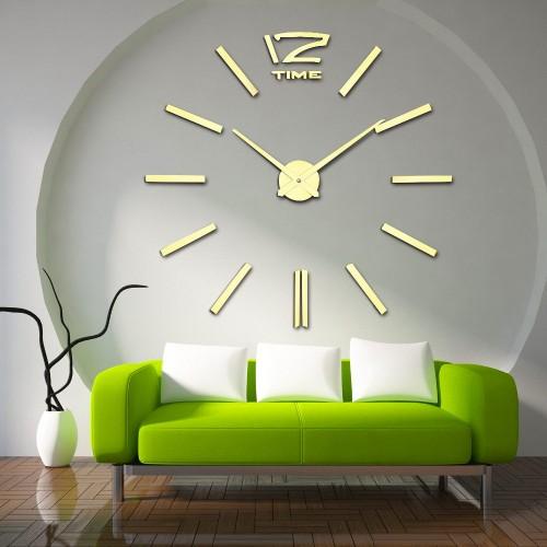 Настенные 3D-часы 12 Time Gold / Настінний 3D-годинник 12 Time Gold