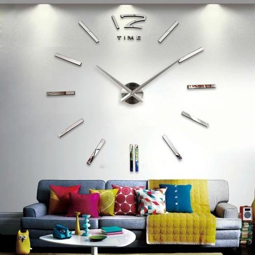 Настенные 3D-часы 12 Time Silver