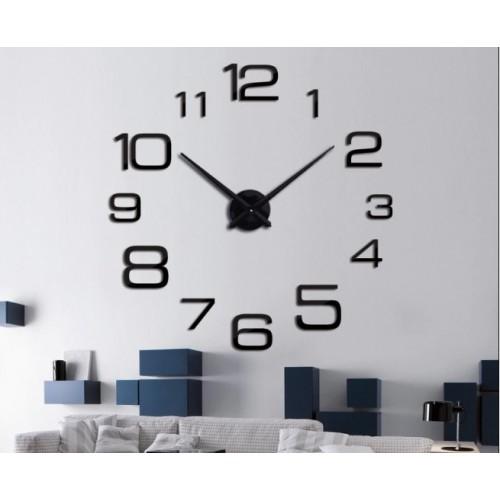 Большие часы на стену Арабские цифры 2019 BLACK