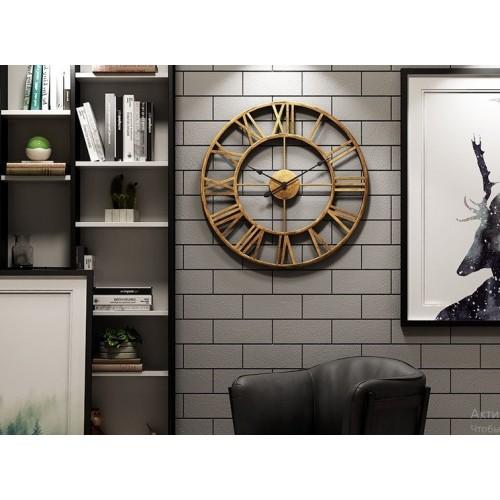 Большие настенные часы металл Kalamata / Великий настінний годинник метал Kalamata