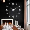Большие настенные часы Арабские/полосы 2018 Silver