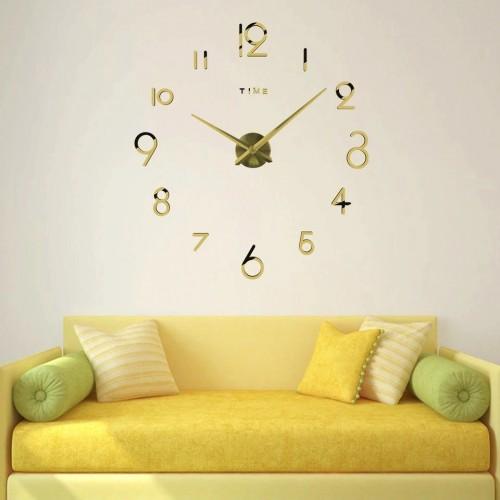 Большие 3D-часы с цифрами 2017 Gold