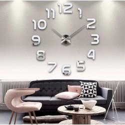Большие часы на стену Арабские цифры Silver