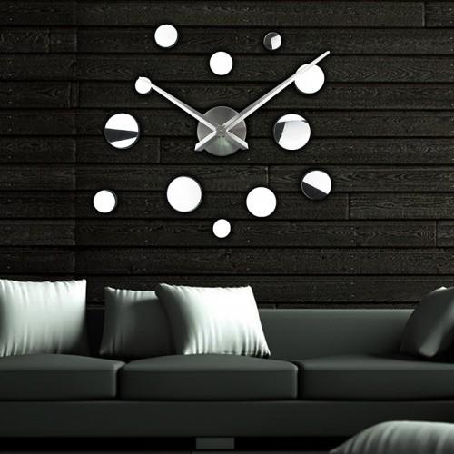 Зеркальные настенные часы Round 2018 Silver