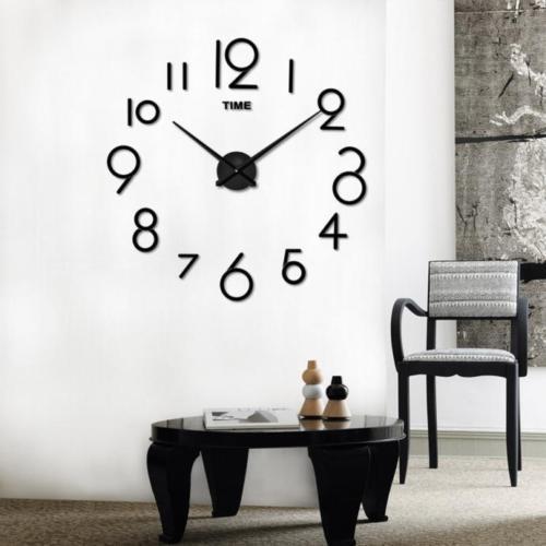 Большие 3D-часы с цифрами 2017 Black